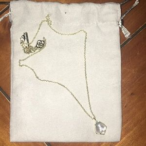 Kendra Scott Kory gold and white pearl necklace